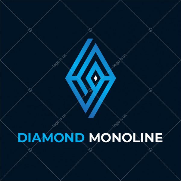Diamond Monoline Logo