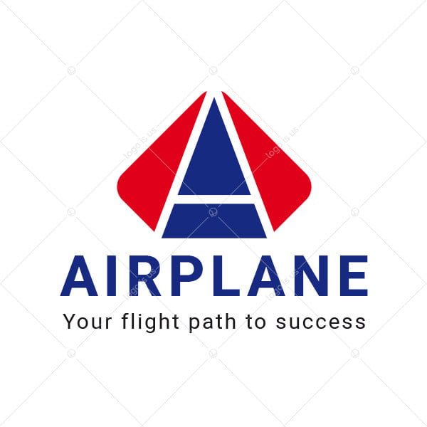 Airplane A Letter Logo