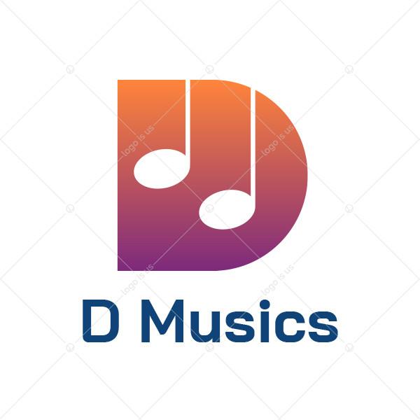 D Music Logo