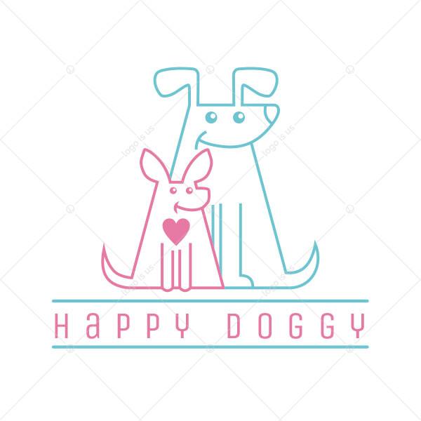 Happy Doggy Logo