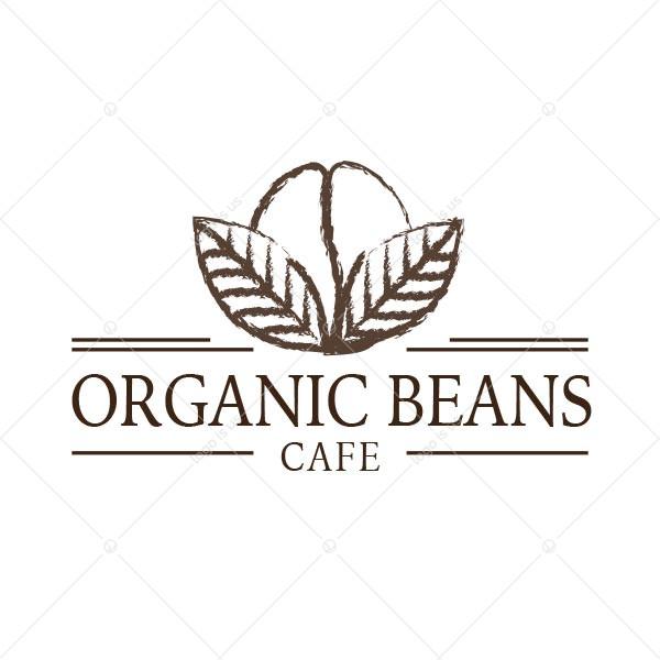 Organic Beans Cafe Logo