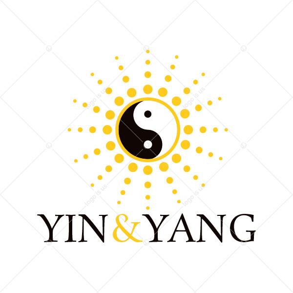 Yin & Yang Sun Logo