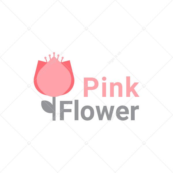 Pink Flower Logo