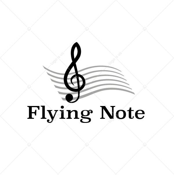 Flying Note Logo