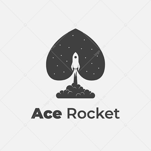 Ace Rocket Logo