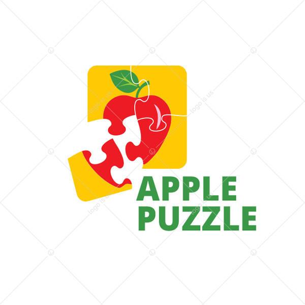 Apple Puzzle Logo