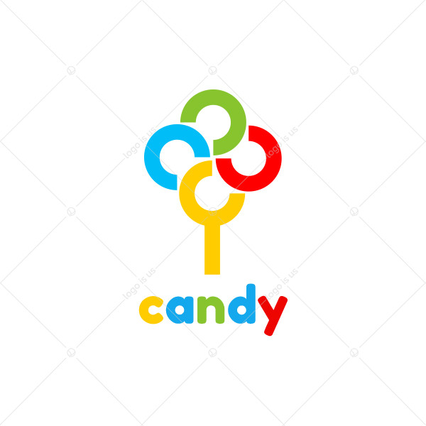 Candy Tree Colorful Logo