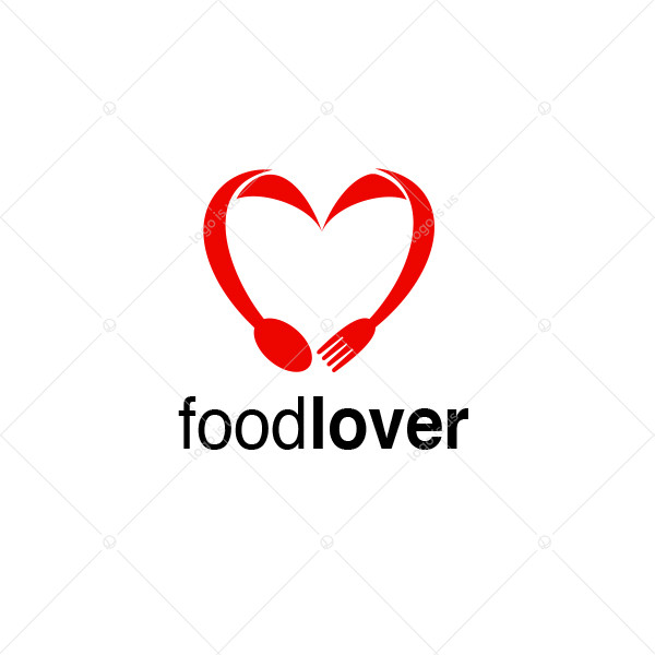 Food Lover Stylish Heart Logo