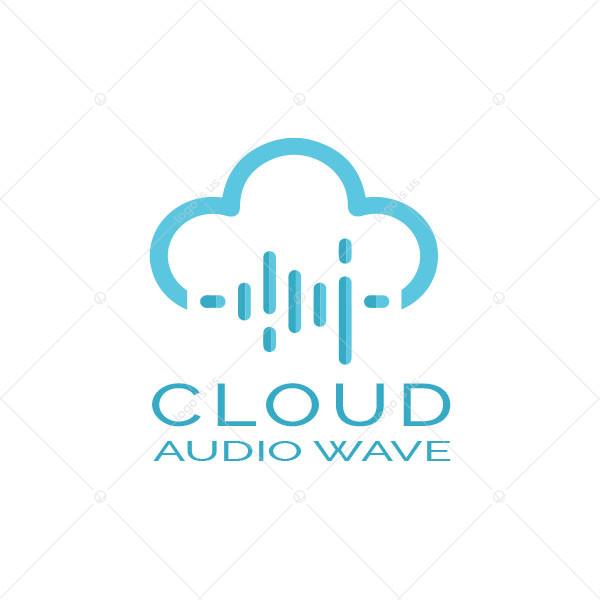 Cloud Audio Wave Logo