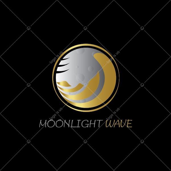 Moon Light Wave Logo