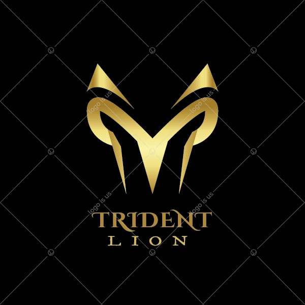 Trident Lion Logo
