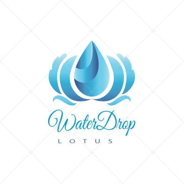Water-Drop Lotus Logo