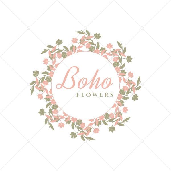 Boho Flowers Logo