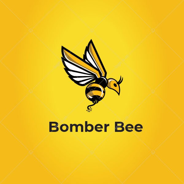 Bomber Humming Bee Logo