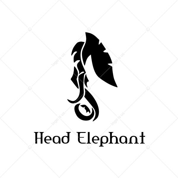 Head Elephant Logo