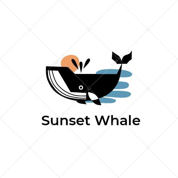 Sunset Whale Logo