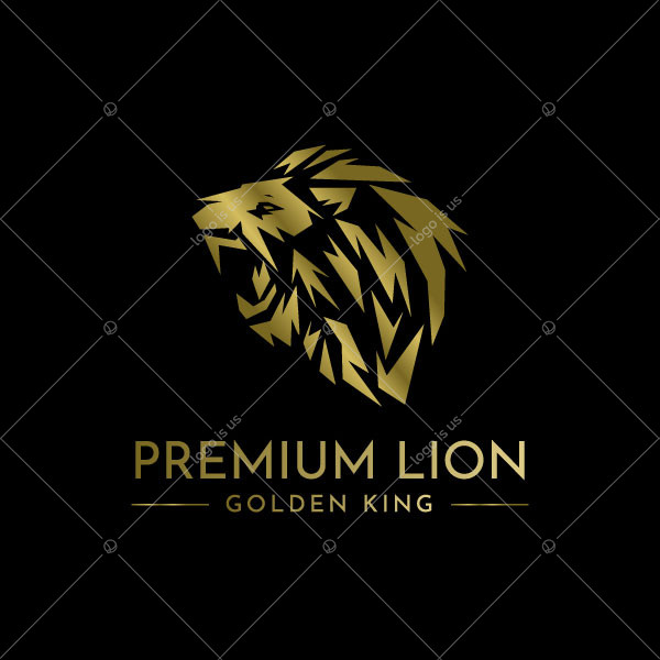Premium Wise Lion Logo