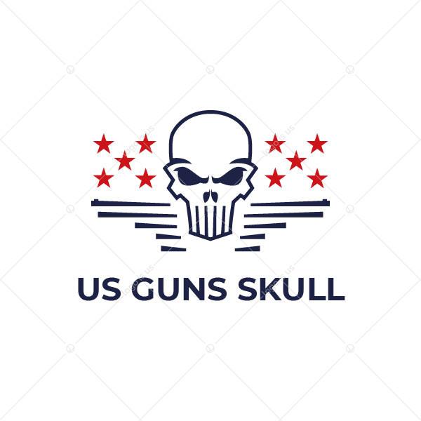 Us Guns Skull Logo