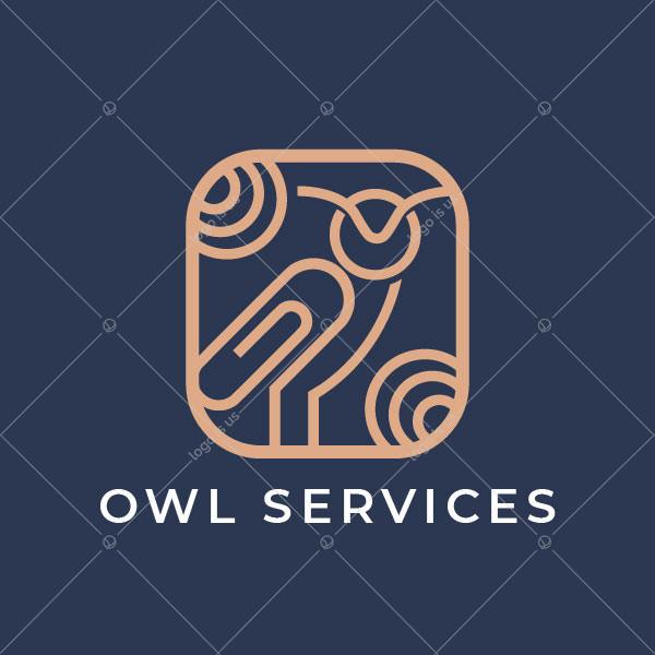 Paperclip Owl Logo