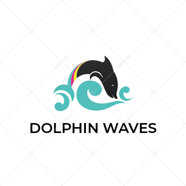 Dolphin And Waves Logo