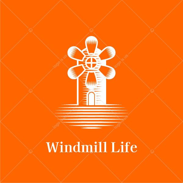 Floral Windmild Logo