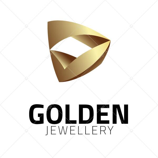 Golden 3d Triangle Logo