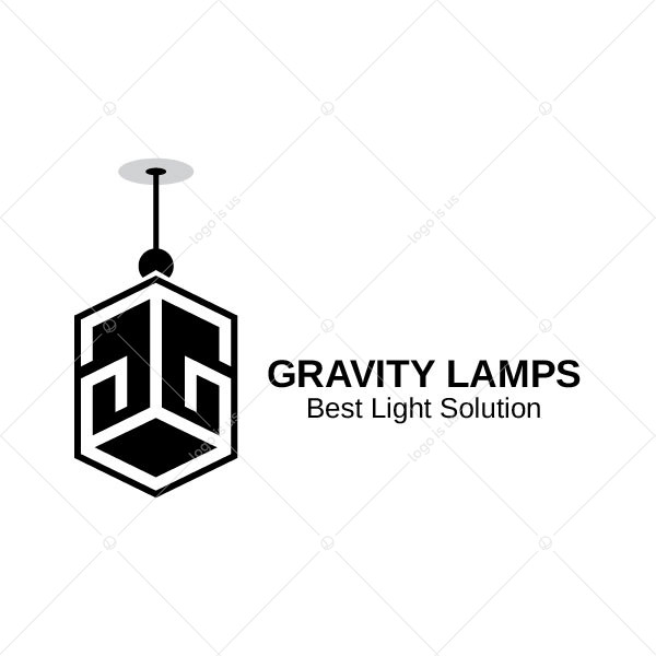 Letter Gg With Lamp Logo