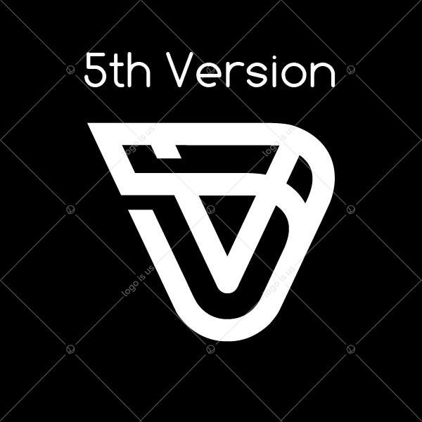 Modern V Letter Logo