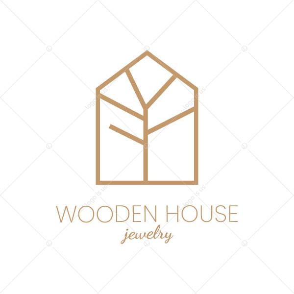 A Wooden House Logo