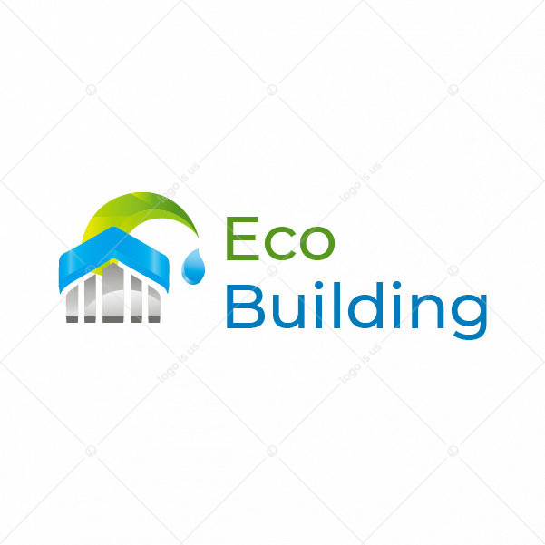 Eco construction Building Logo